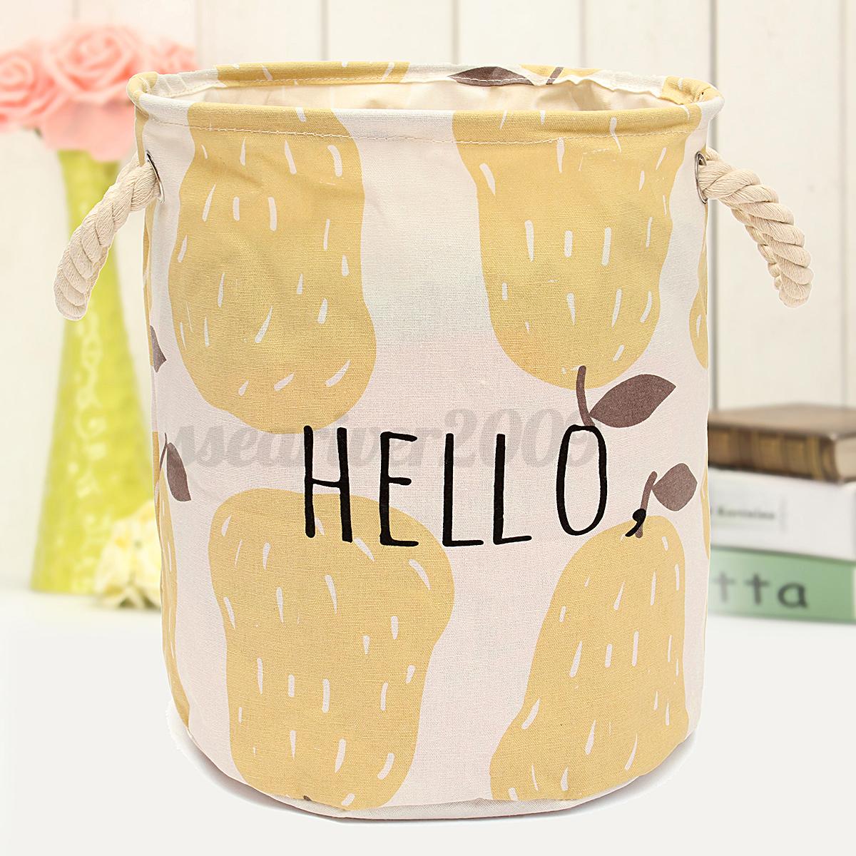 Foldable Laundry Basket Sorter Bag Hamper Canvas Washing Clothes Toys Storage