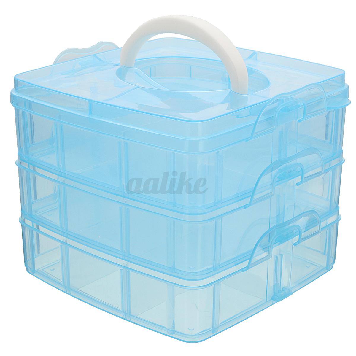 new clear plastic jewelry bead storage box container
