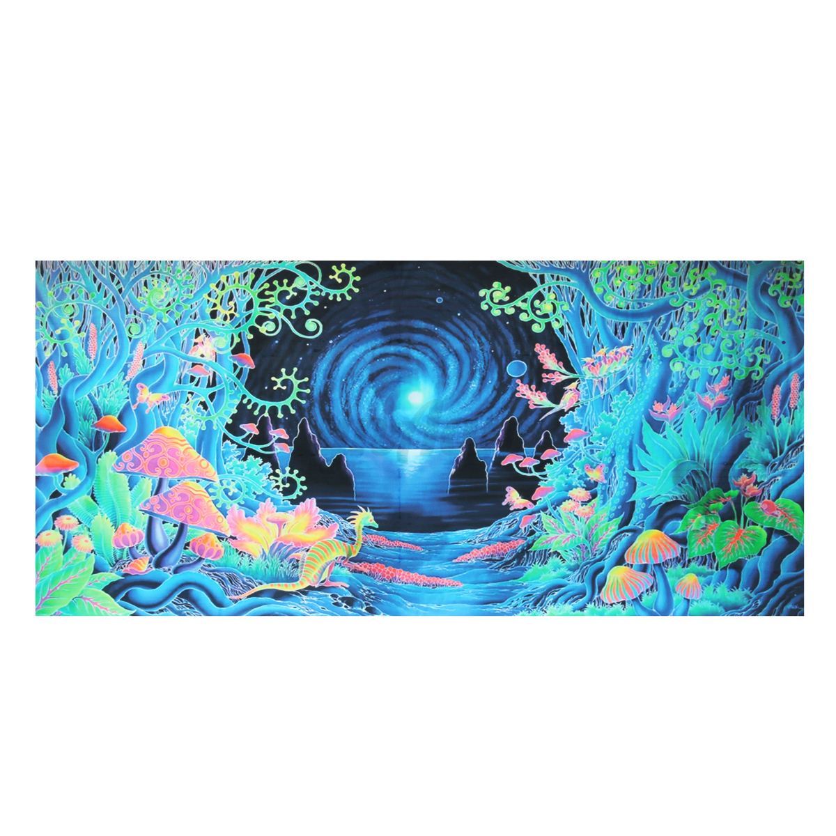 Wall Decor With Cloth : Style psychedelic art silk poster fabric cloth print