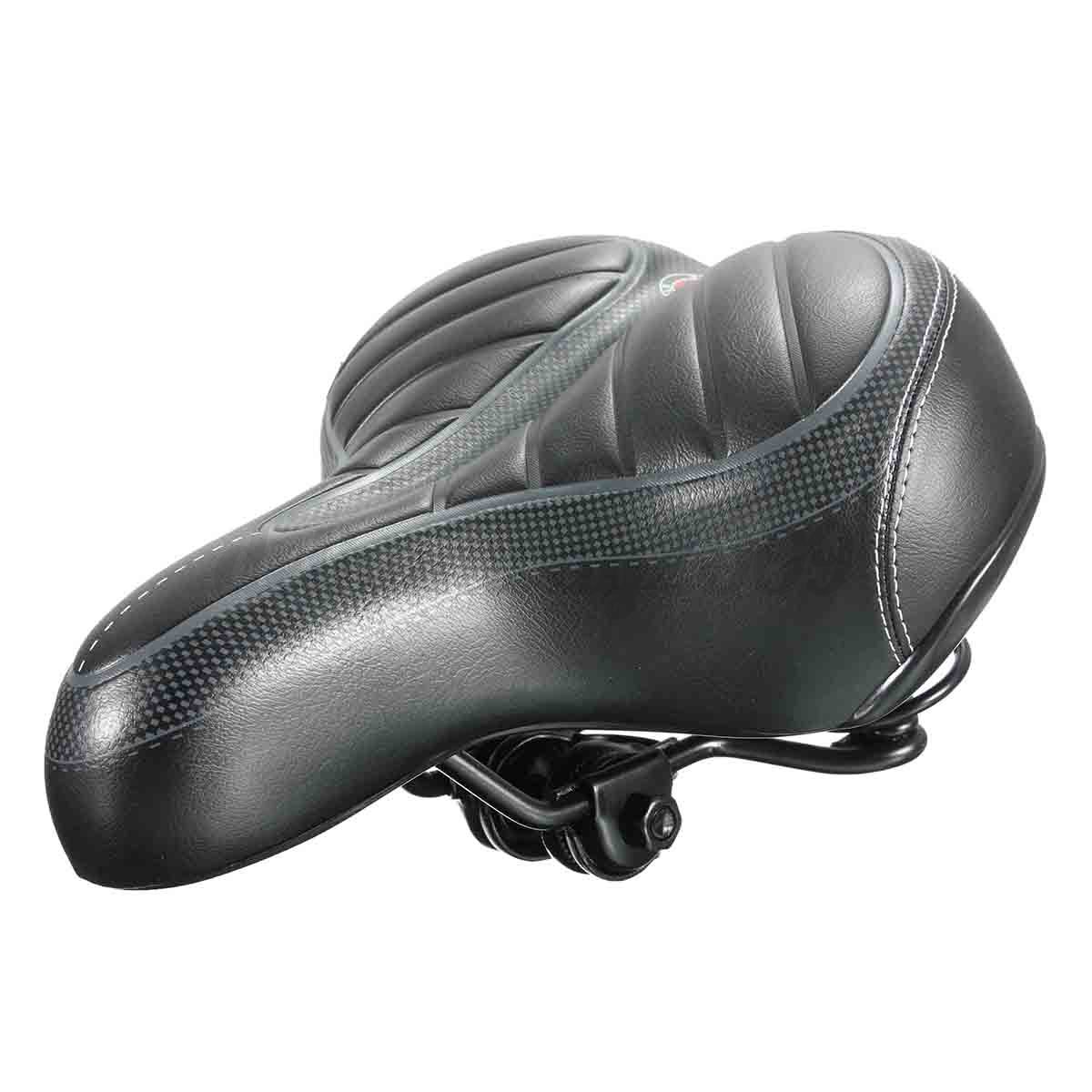 Extra Bike Seat : Extra wide big bum bike bicycle gel cruiser comfort sports