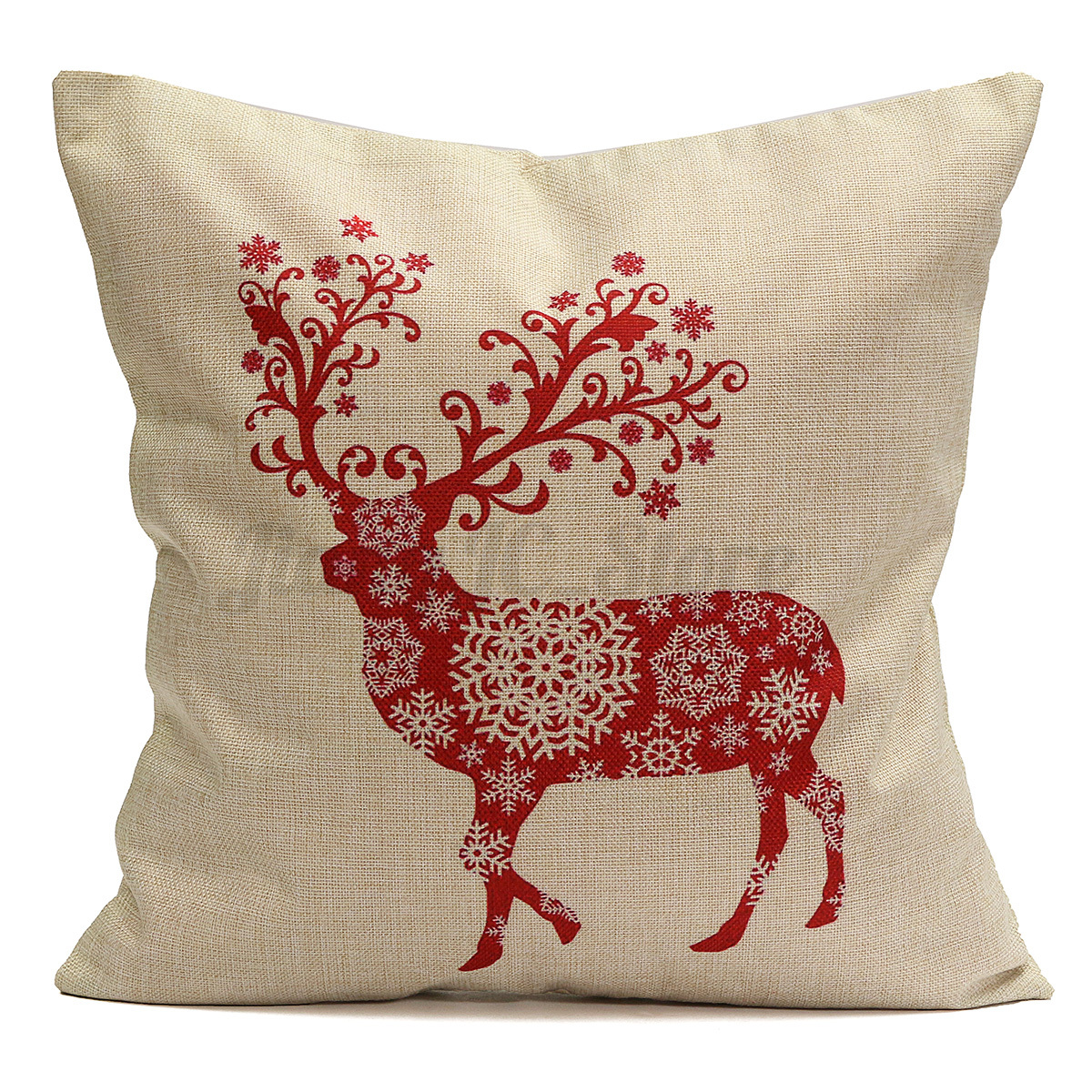 Decorative Pillows Deer : Christmas Elk Deer Throw Pillow Case Cushion Cover Xmas Home Sofa Bedroom Decor eBay
