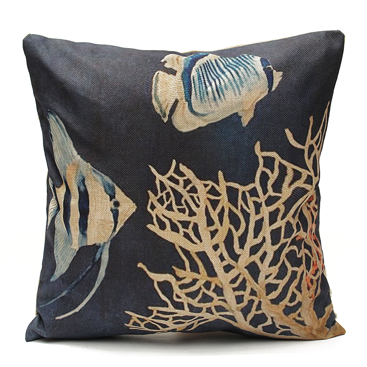 Nautical Coastal Throw Pillows : Ocean Coastal Beach Nautical Throw Pillow Case Cushion Cover Sofa Home Decor eBay