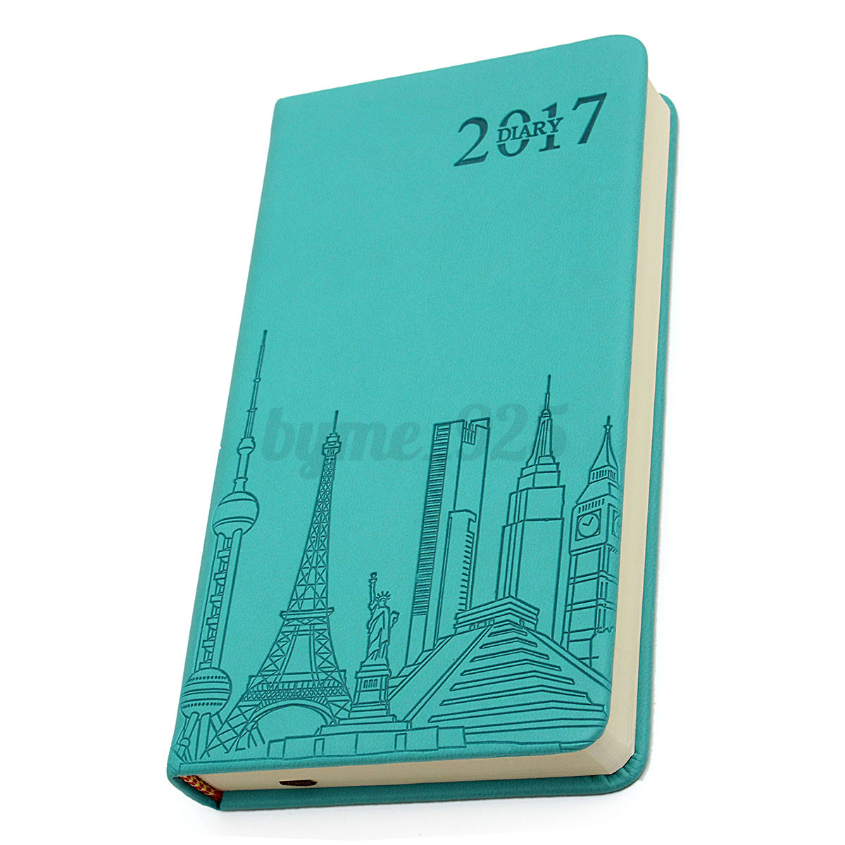 Monthly Calendar Notebook : Yearly monthly day planner schedule leather notebook