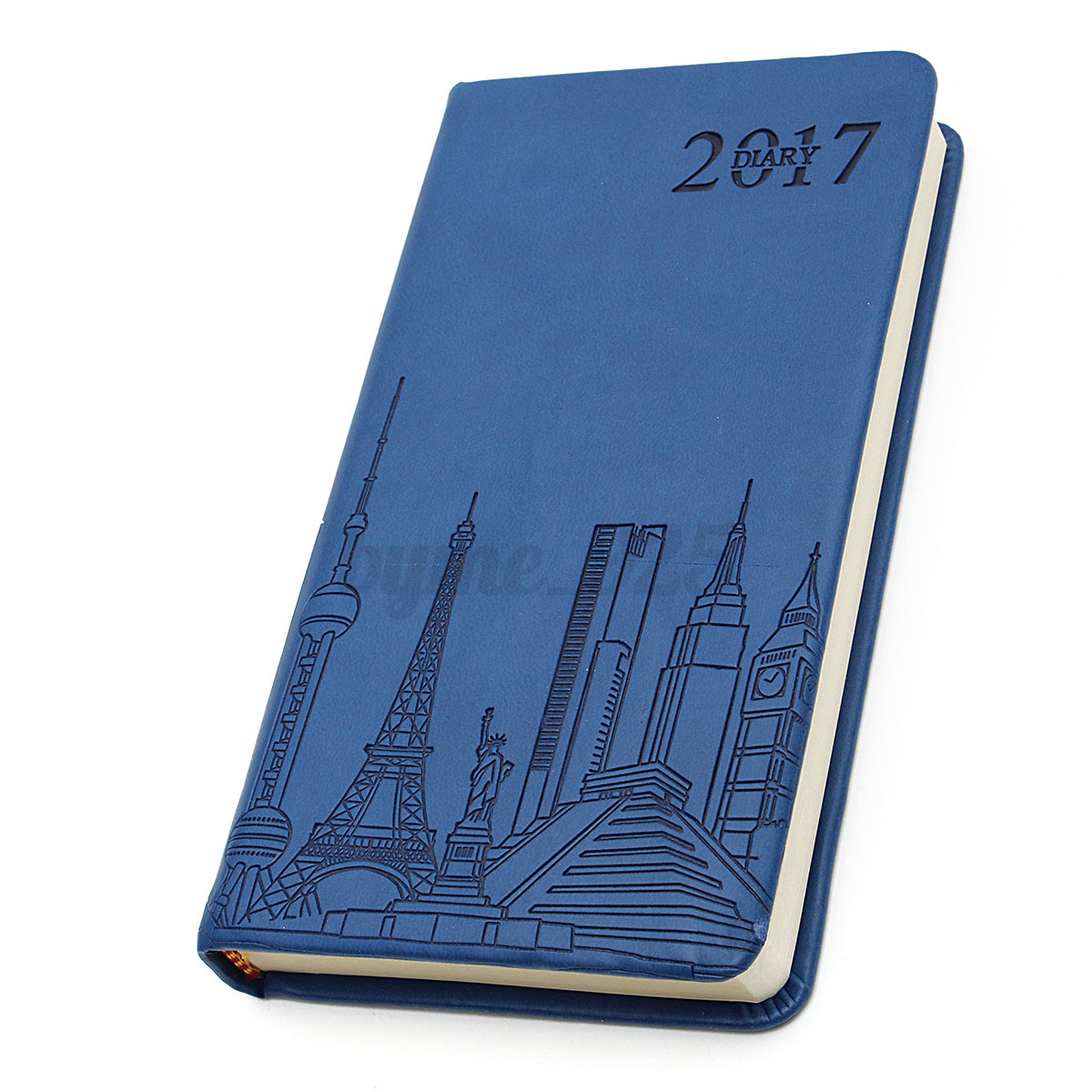 Calendar Planner Notebook : Yearly monthly day planner schedule leather notebook