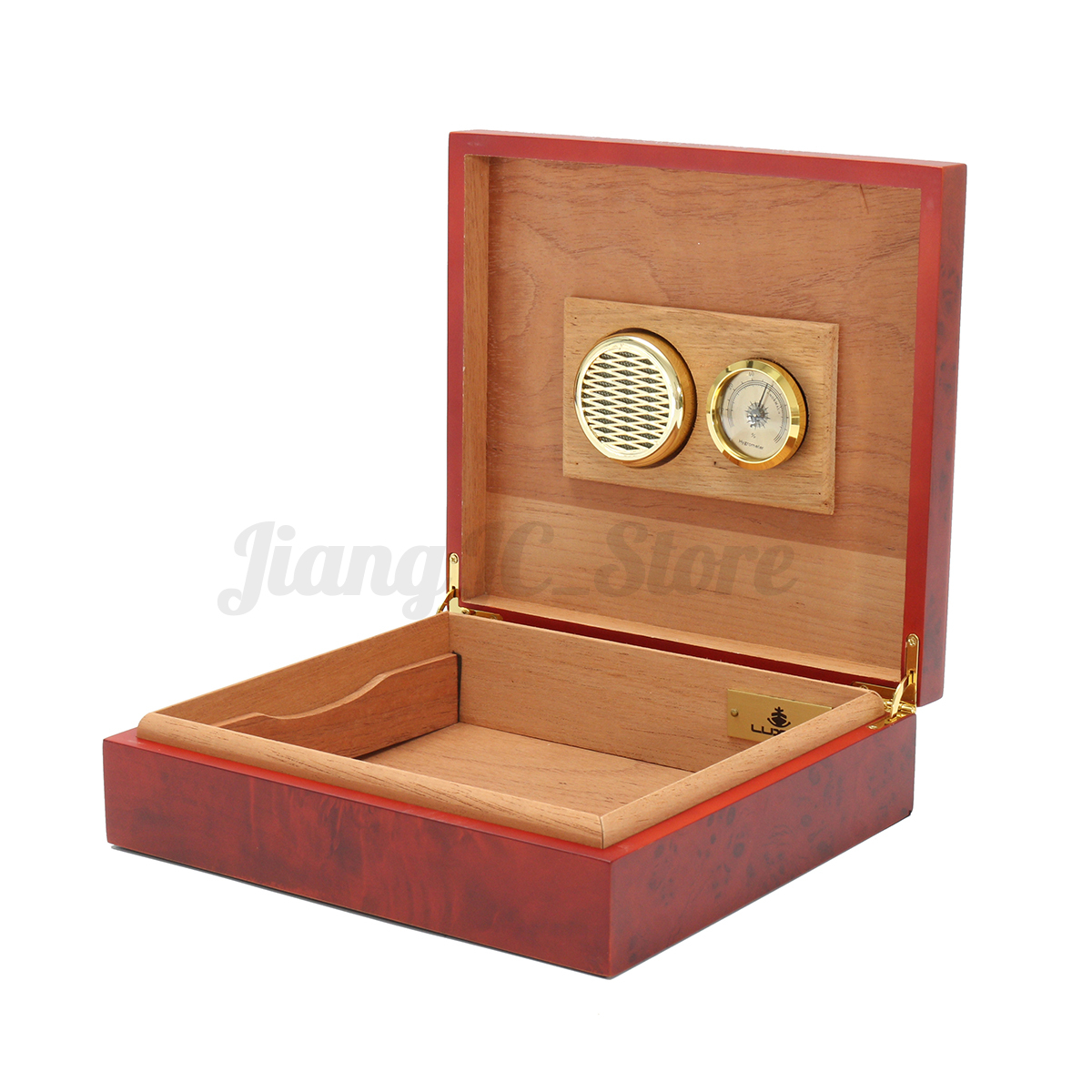 Wood Lined Cigar Humidor Humidifier With Hygrometer Case Box eBay #462414