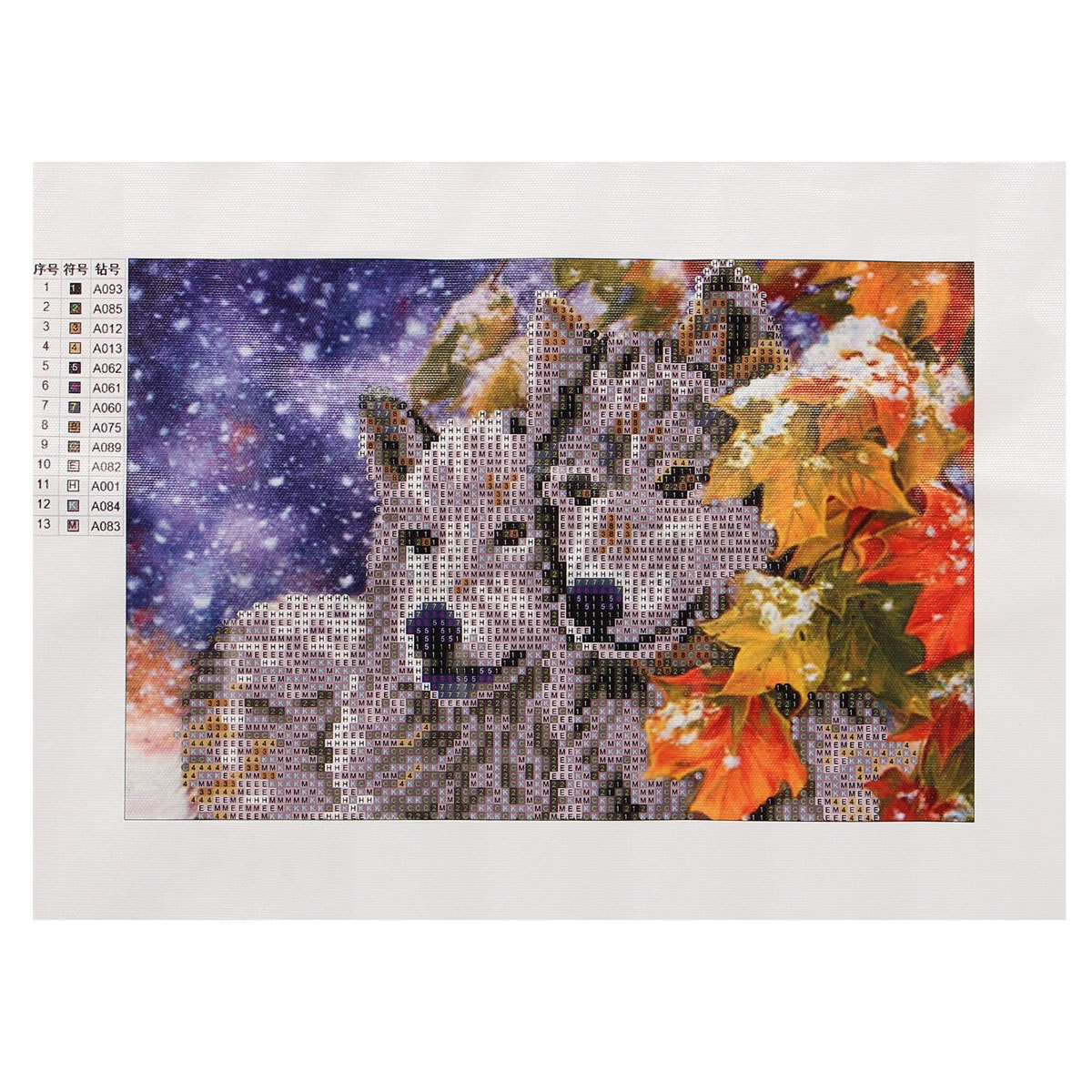 5d Diy Diamond Painting Wolf Tiger Cat Embroider Cross Stitch Home Decor Craft Ebay