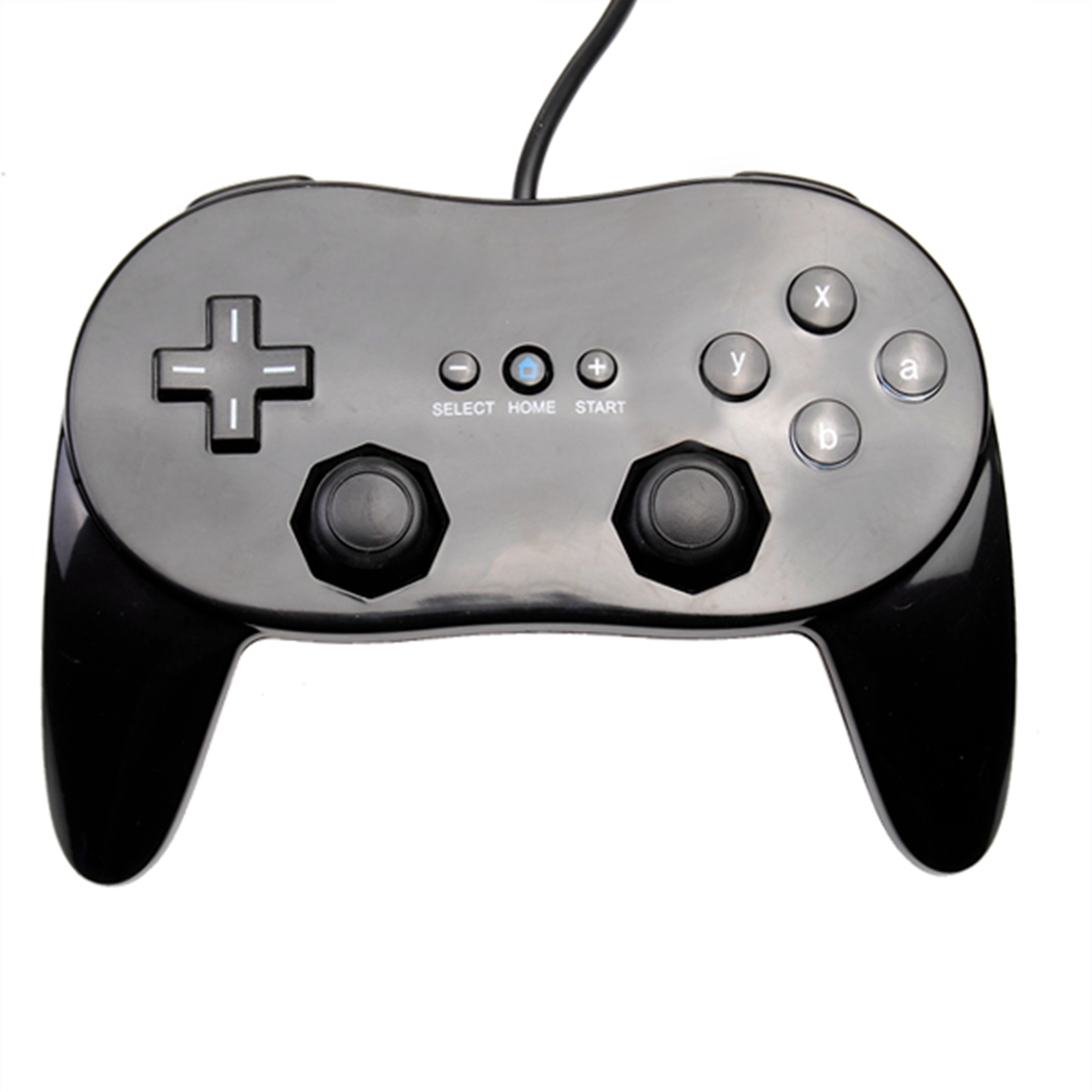 Black White Classic Pro Wired Gamepad Joypad Controller for Nintendo ...
