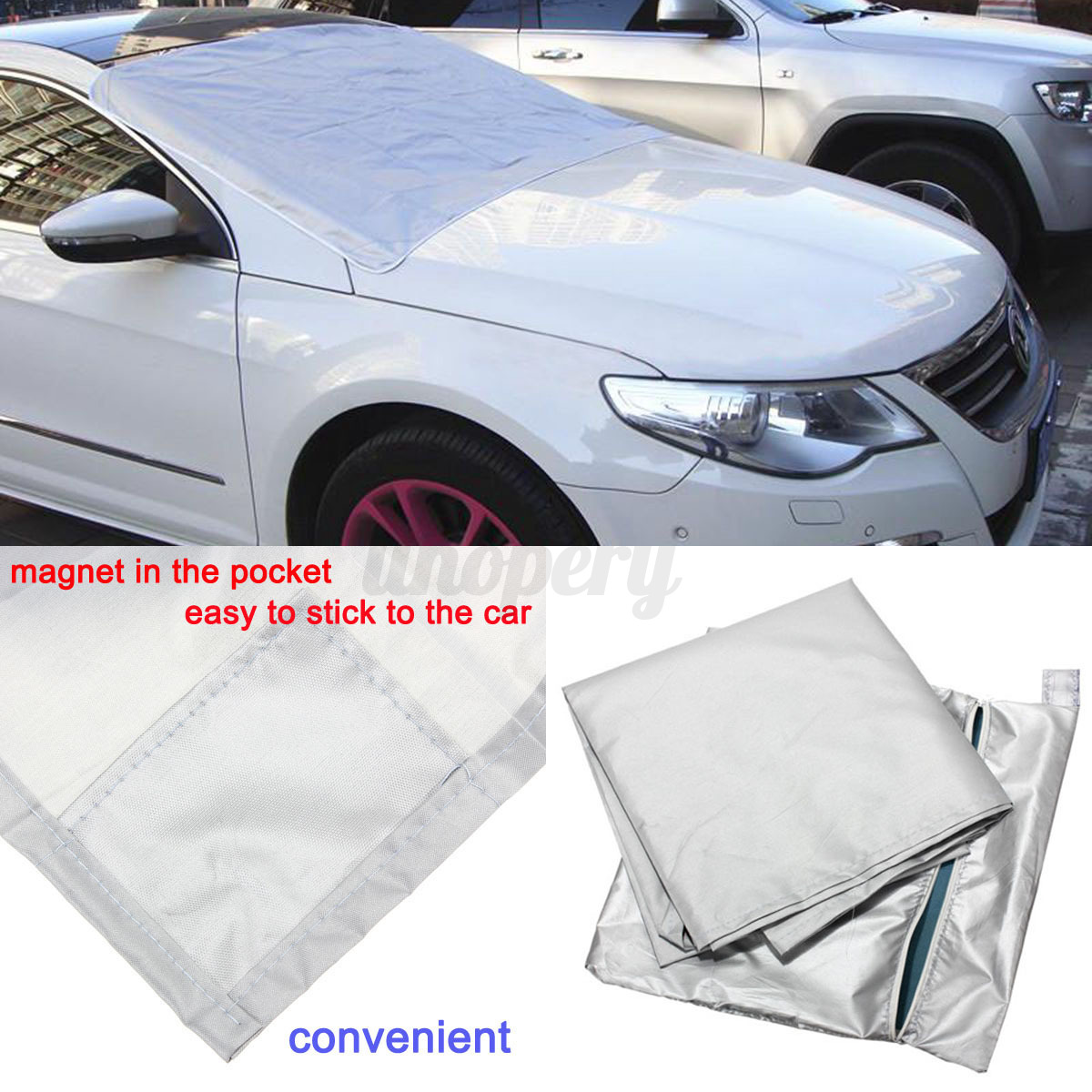 car suv magnet windshield cover snow ice frost winter protector window sun shade ebay. Black Bedroom Furniture Sets. Home Design Ideas