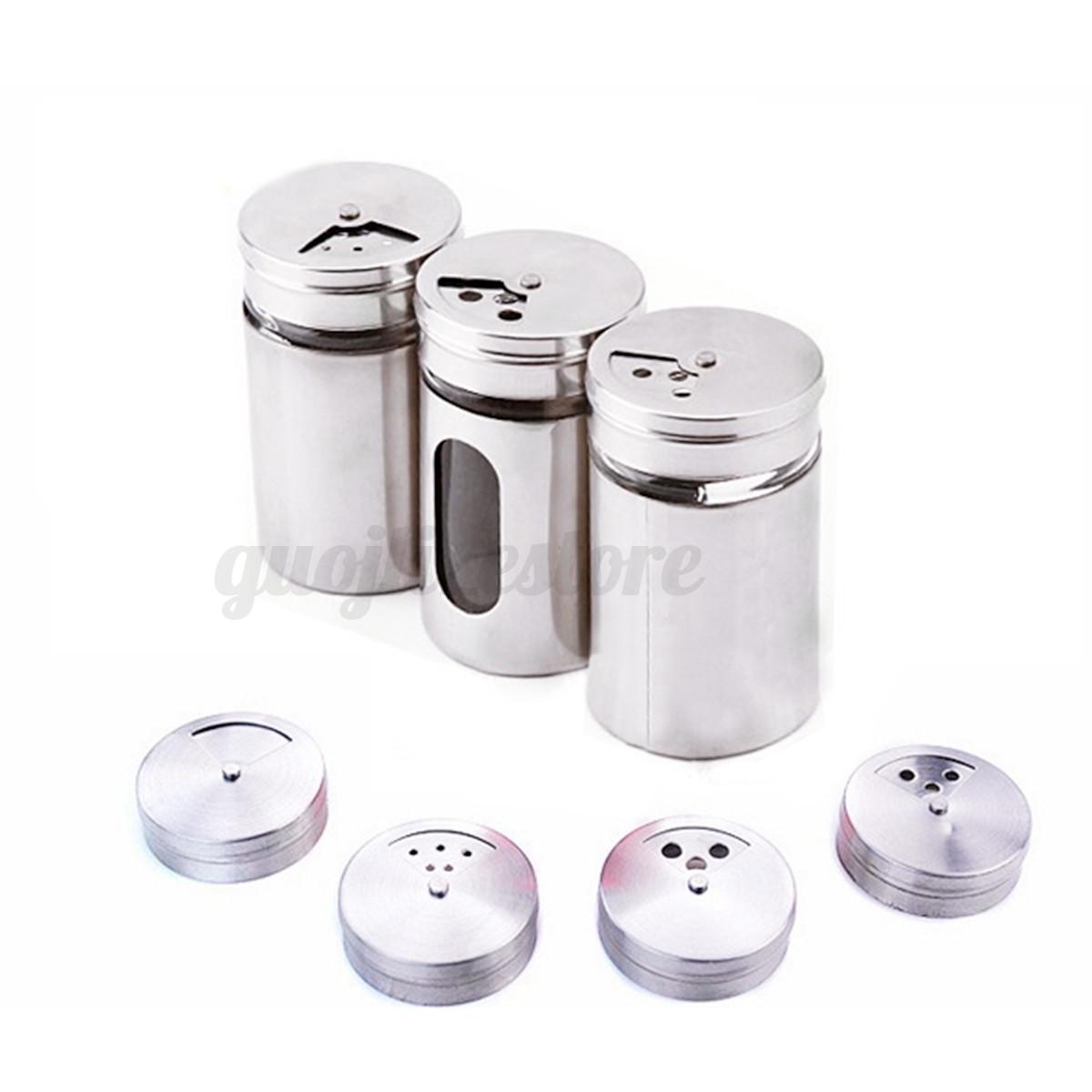 Stainless steel spice shaker sugar salt pepper herb toothpick storage bottle ebay - Toothpick shaker ...
