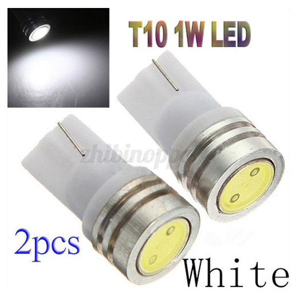 2-10x-T10-501-White-Power-1W-LED-SMD-Wedge-License-Plate-Light-Car-Bulb-Lamp-12V