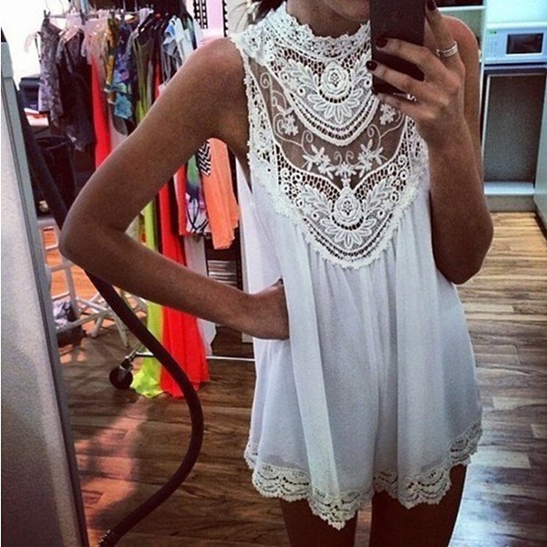 Womens-Summer-Short-Mini-Dress-Sleeveless-Floral-Lace-Chiffon-Plus-Size-Sundress
