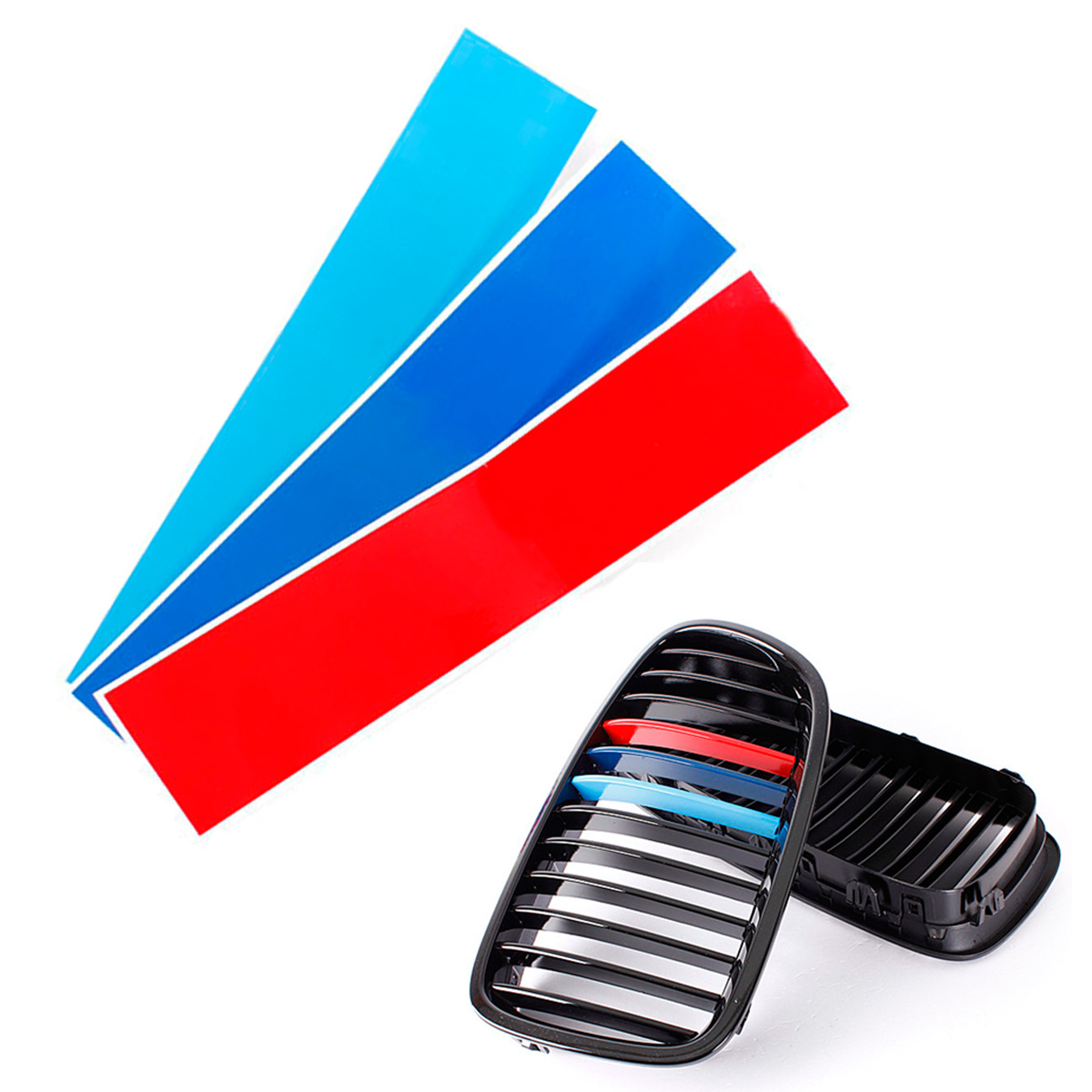COLOR M GRILLE DECAL STRIP VINYL STICKER FOR BMW M E E E - Bmw grille stripe decals