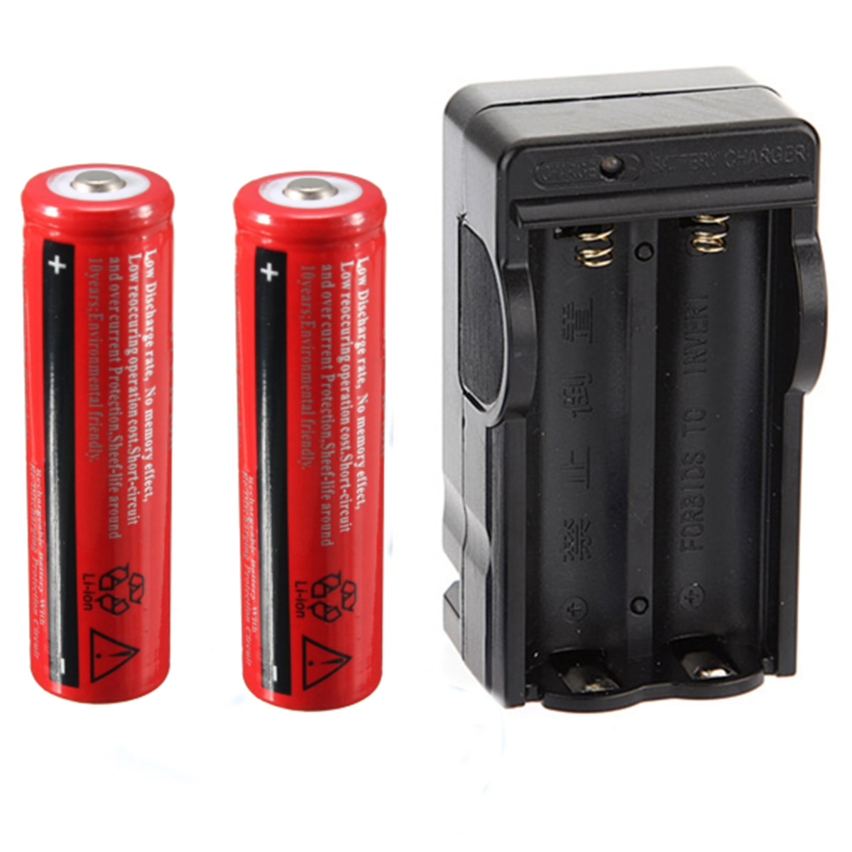 2x 18650 4200mah 3 7v li ion rechargeable battery for flashlight dual charger ebay. Black Bedroom Furniture Sets. Home Design Ideas