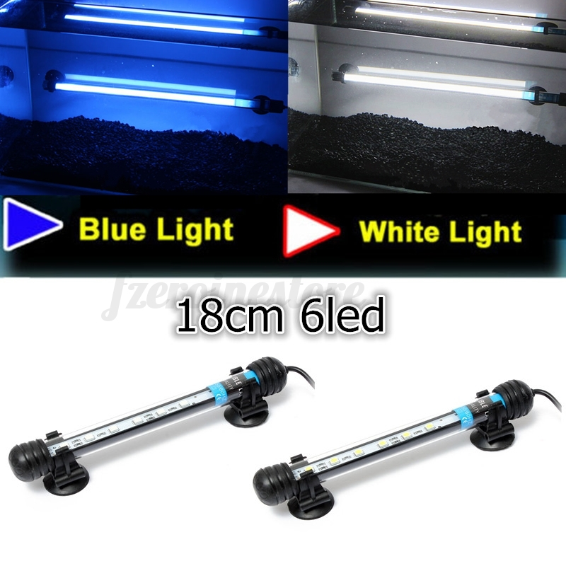 Blue white rgb 5050 led aquarium light fish tank bar lamp for Blue light for fish tank