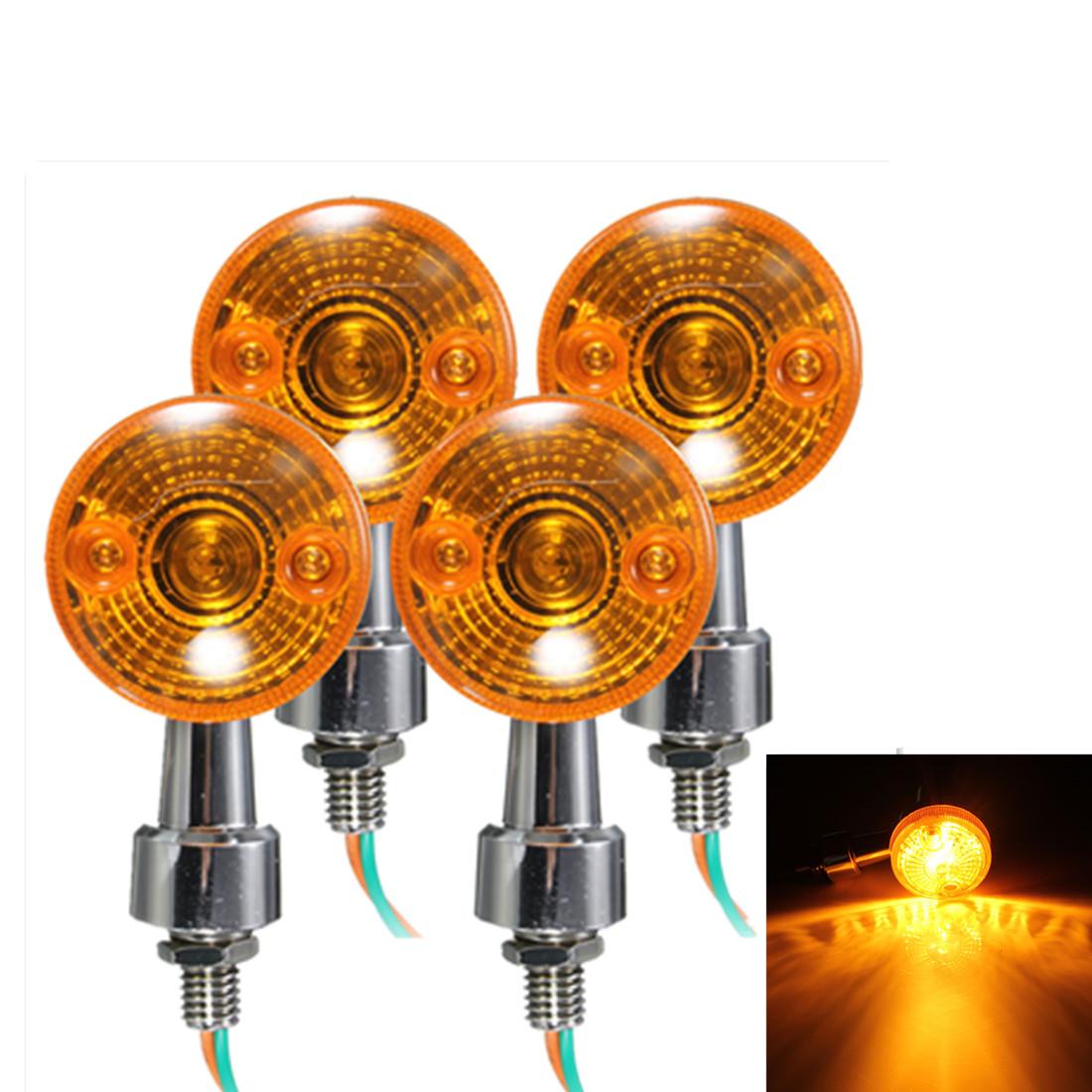 4x motorrad blinker blinkleuchte signallicht lampe gelb. Black Bedroom Furniture Sets. Home Design Ideas