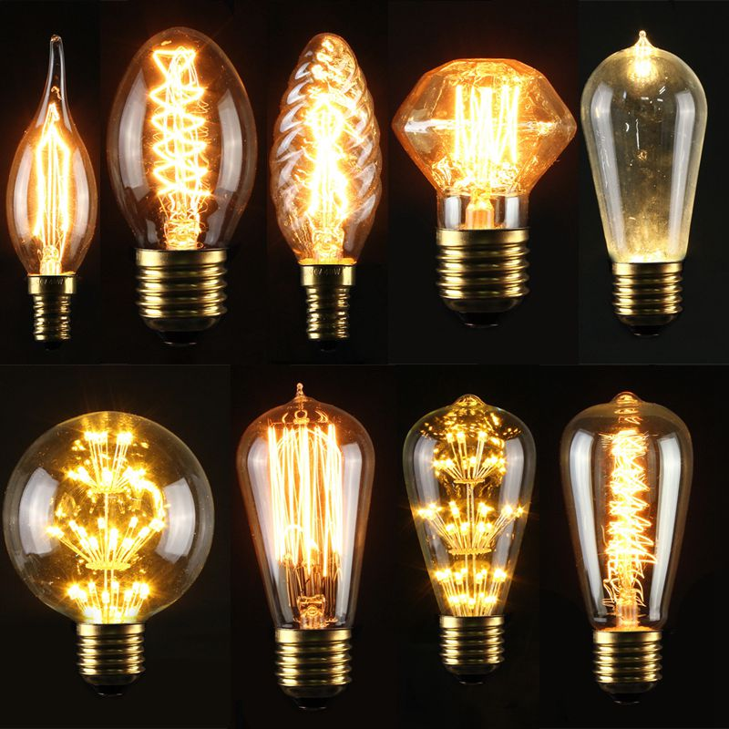 e27 e14s 3 5 40w led edison gl hbirne filament vintage lampe antik retro messing ebay. Black Bedroom Furniture Sets. Home Design Ideas