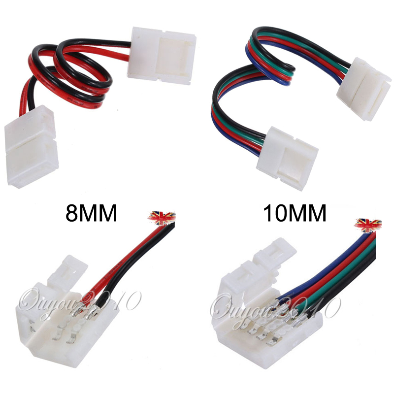 8mm 2pin 10mm 4pin led strip light connector adapter cable clip fr detail image aloadofball Images