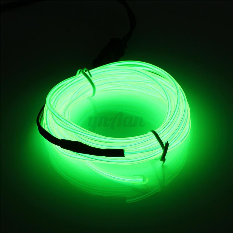 1 8m el kabel neon led lichtschnur usb lichtleiste effekt leuchtschnur kfz party ebay. Black Bedroom Furniture Sets. Home Design Ideas