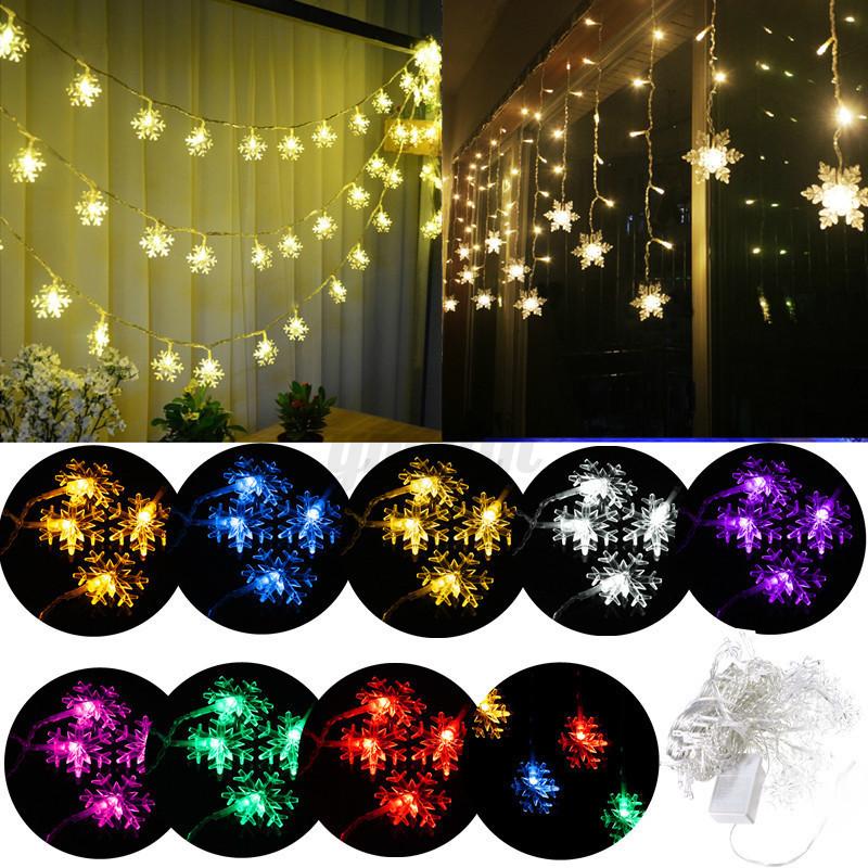Led lichtervorhang lichterkette weihnachten fensterlicht - Lichtervorhang innen fenster ...
