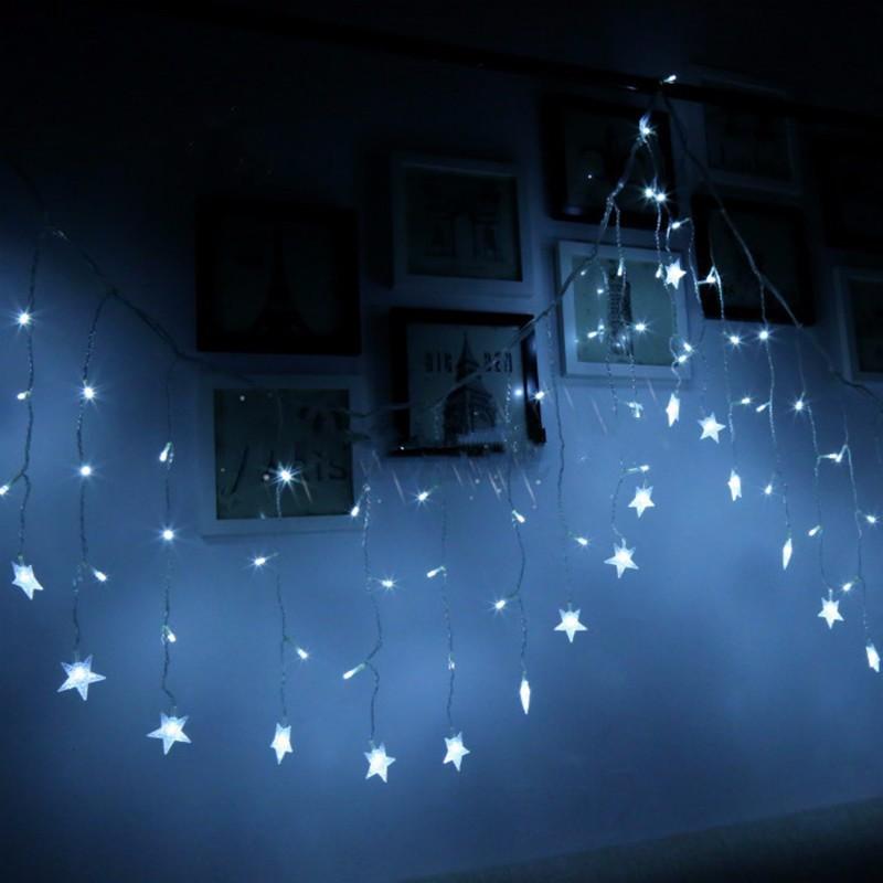 RGB LED Lichtervorhang Lichterkette Weihnachten Fenster Beleuchtung ...