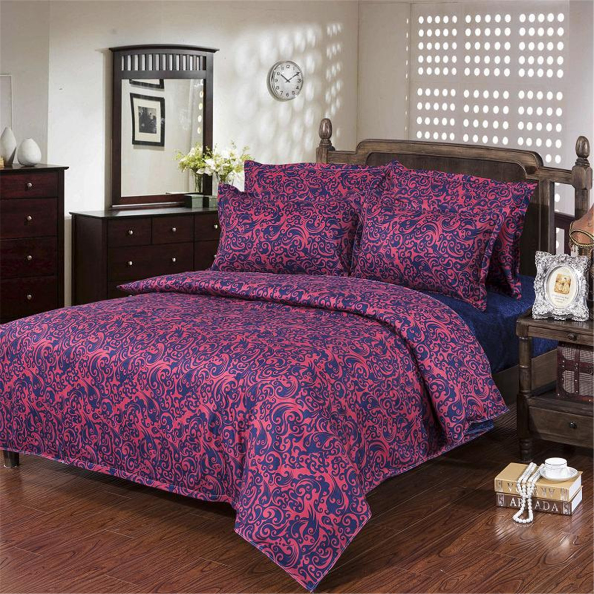single double queen king size bedding sets flowers pillow case quilt duvet cover ebay. Black Bedroom Furniture Sets. Home Design Ideas