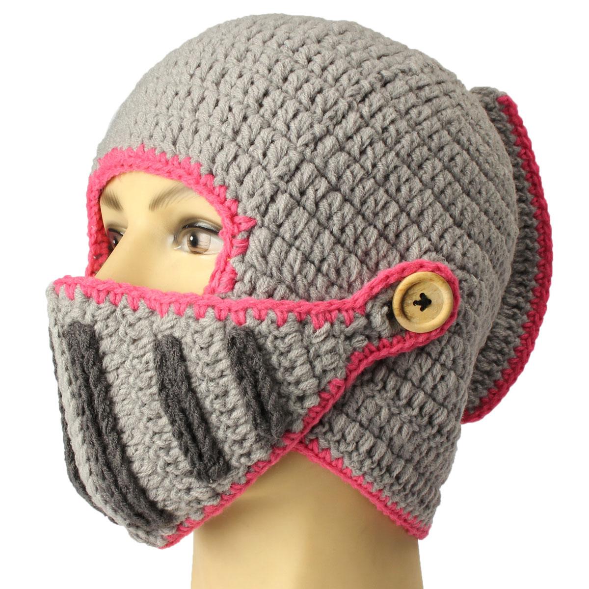 Unisex Men Knit Face Mask Beard Cap Crochet Ski Mustache Winter Warm