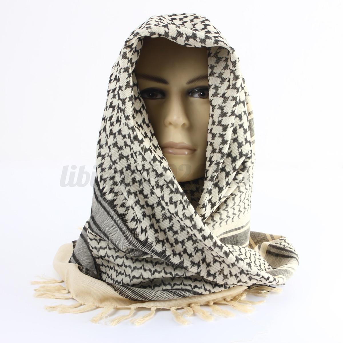 Shemagh-Militare-sciarpa-Tattico-Keffiyeh-Uomo-Donna-Scarf-Foulard-Kefiah-Araba miniatura 3