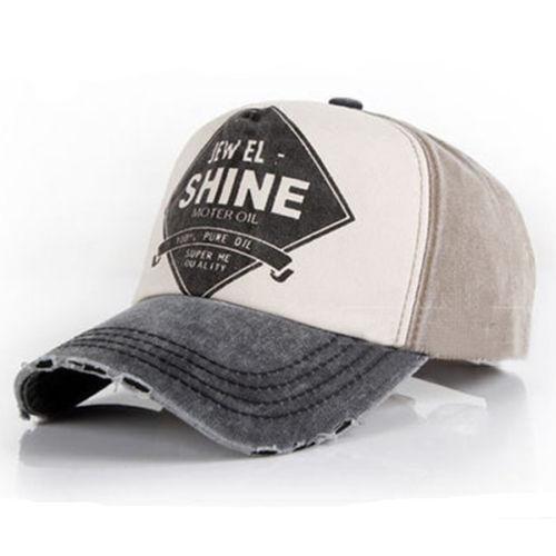 fde2b5e8 Details about Unisex Men Women Vintage Baseball Cap Adjustable Denim  Distressed Trucker Hat UK