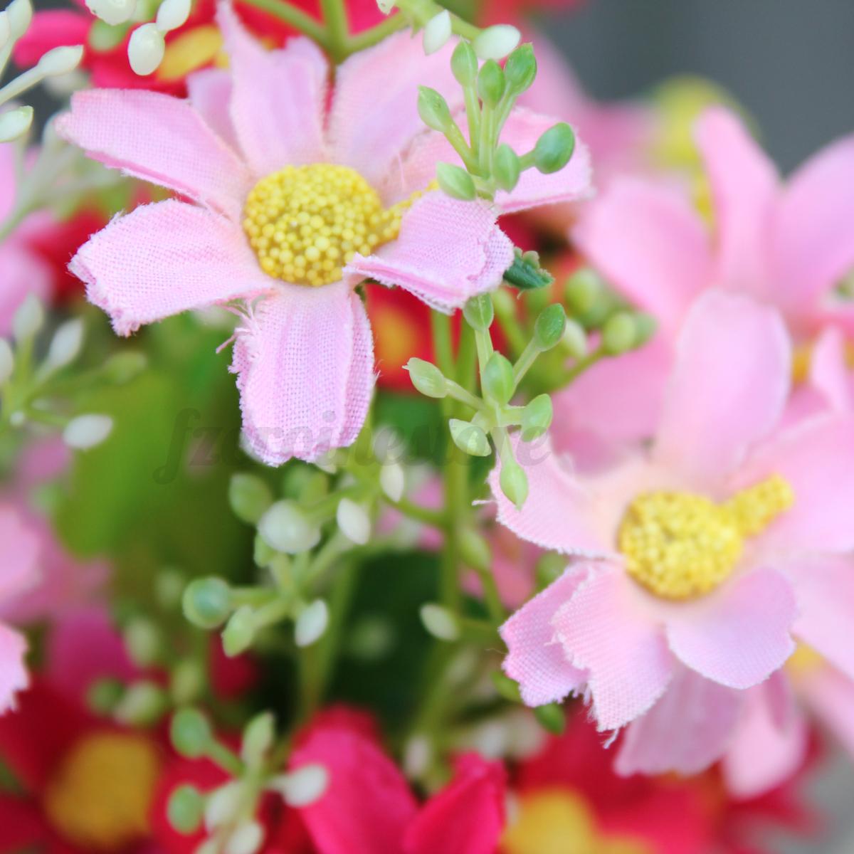 1 Bouquet 28 Heads Artificial Daisy Flower Home Wedding Decoration
