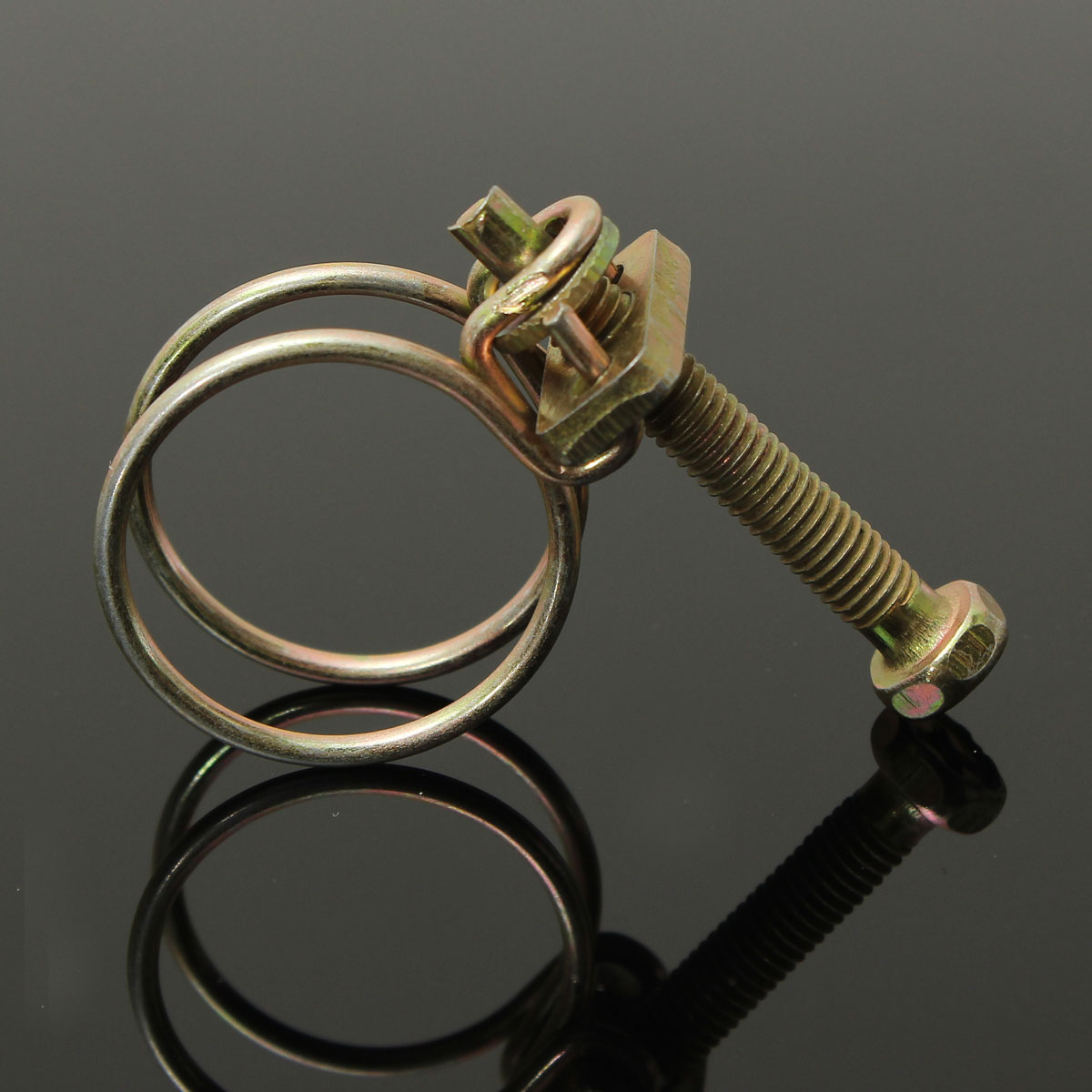 New double wire hose clamp pipe clip screw bolt tight