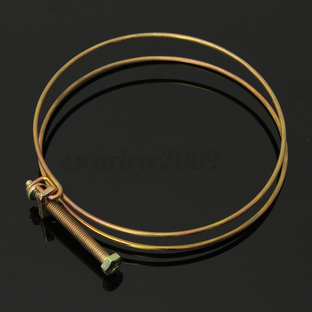 Double wire hose clamp pipe clip screw bolt tight