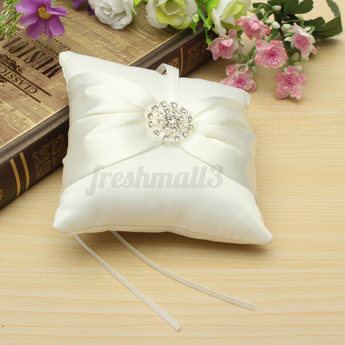 pure wedding kirkby custom product crafts detail pillow with ring rose silk made img