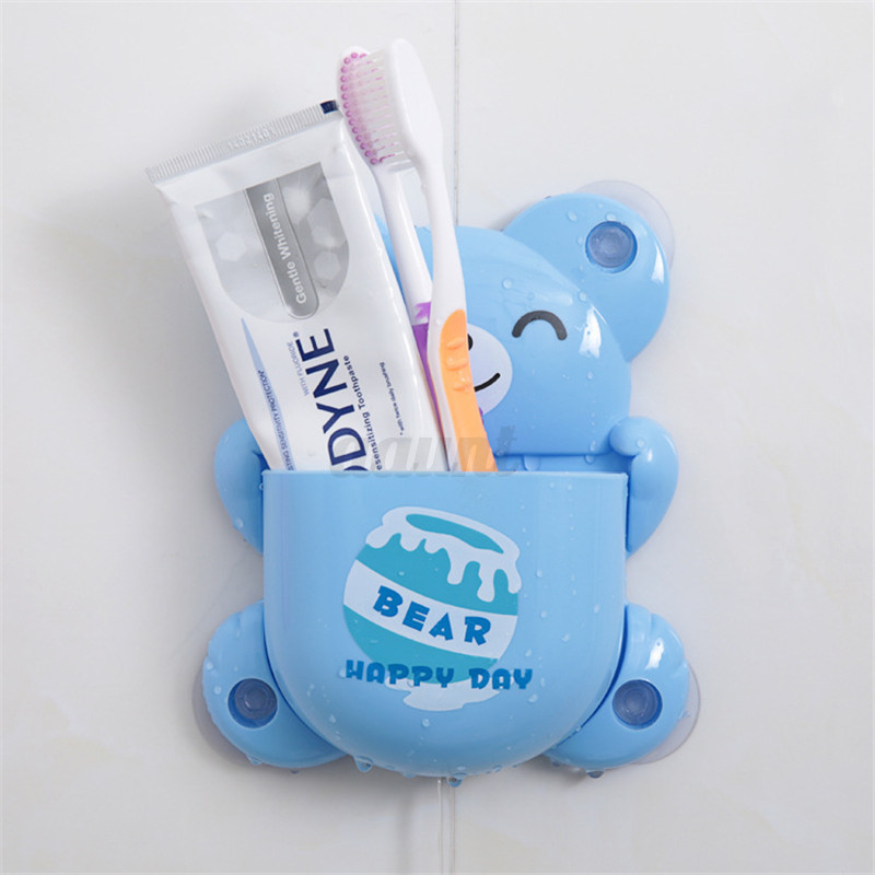 new cartoon animal bee suction cup toothbrush toothpaste hol