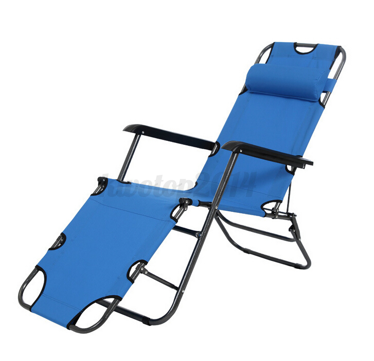 Us metal folding chaise lounge patio chair outdoor pool for Aluminum folding chaise lounge