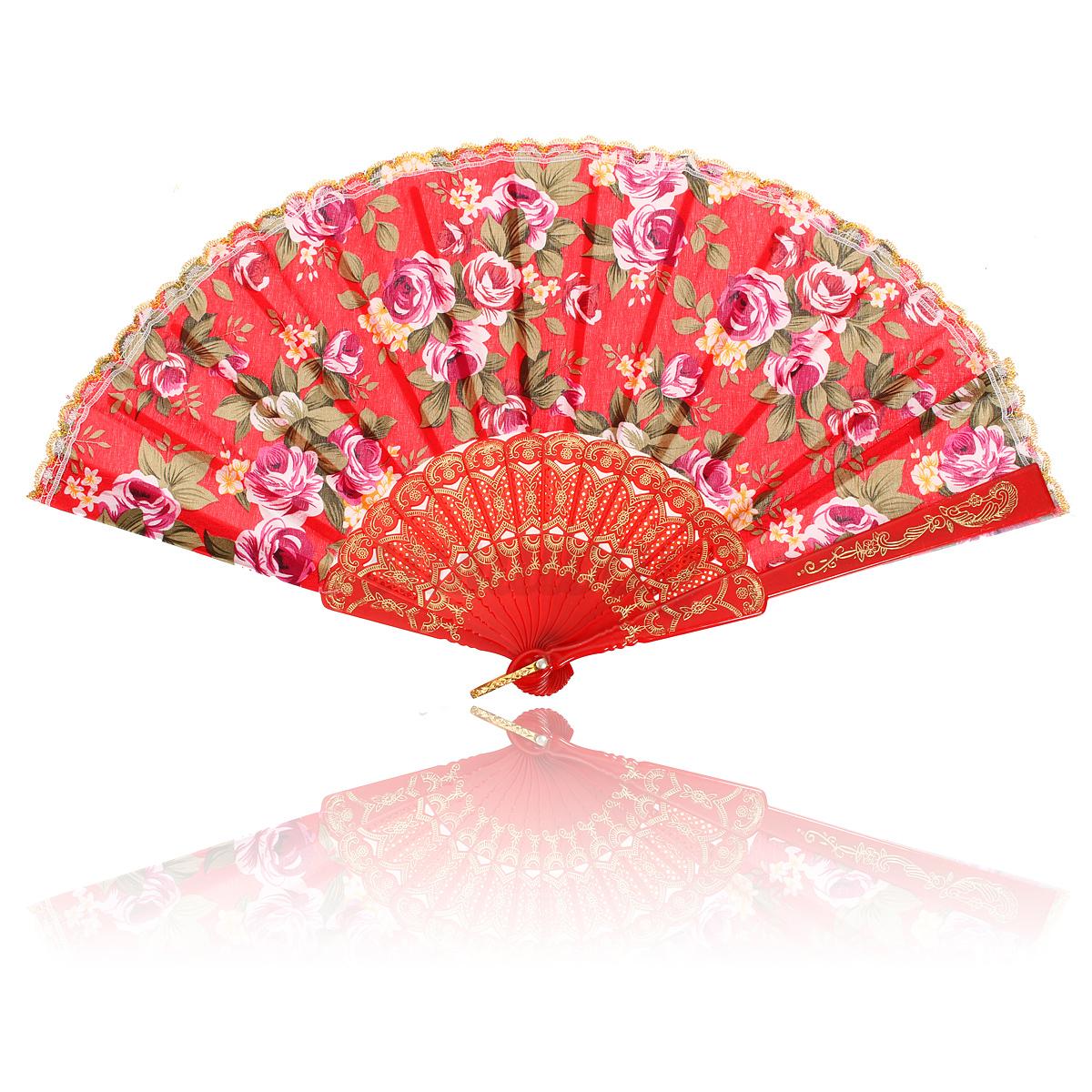 Lady Vintage Silk Butterflies Sakura Pattern Hand Fan