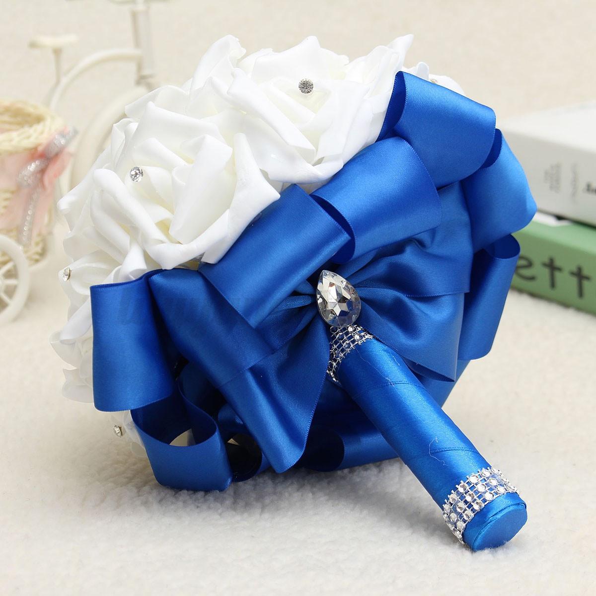 Ramo-de-Novia-Flor-Boda-Artificial-Rosa-Wedding-Bouquet-Bridesmaid-Decoracion
