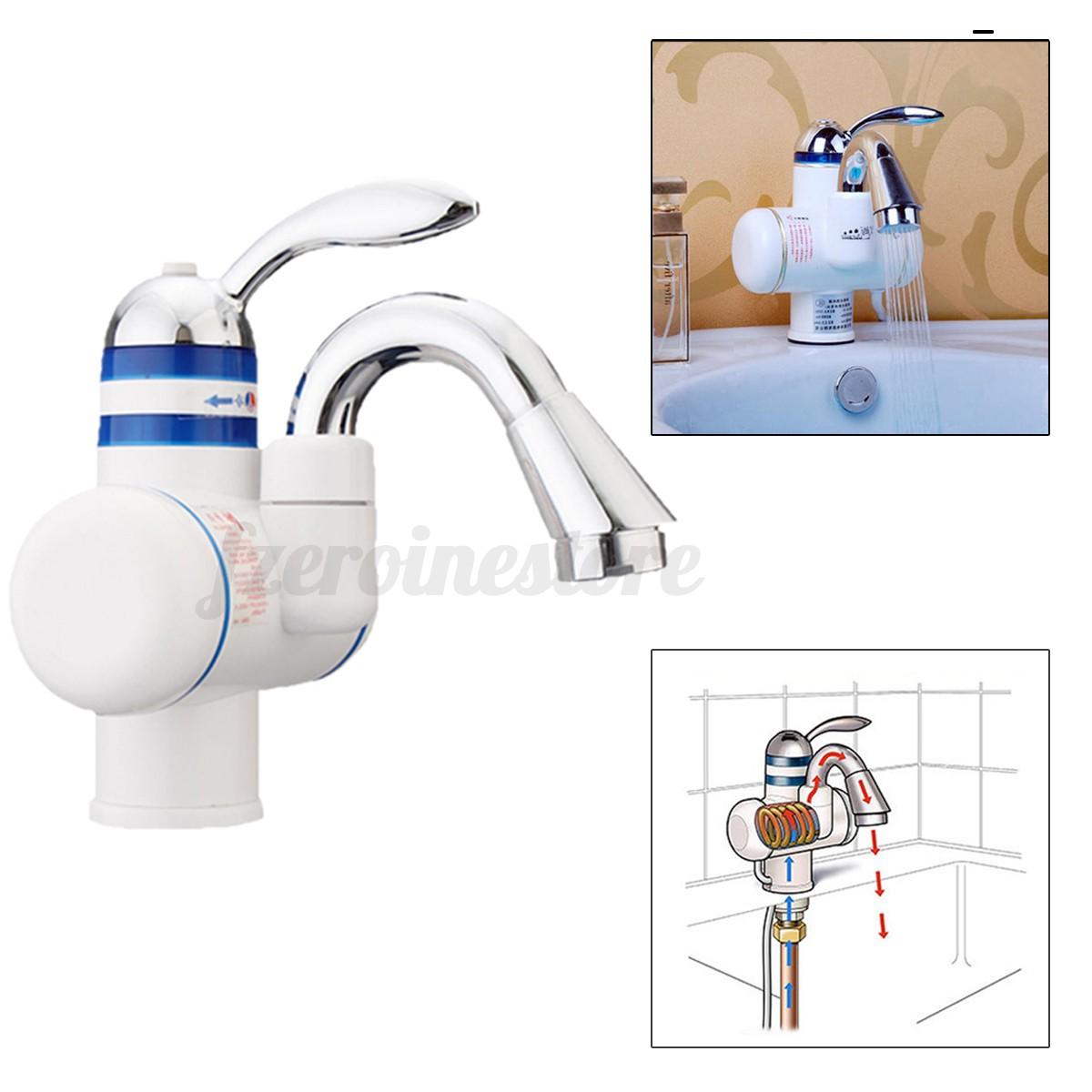elektrische armatur bad k che elektrisch wasserhahn durchlauferhitzer warmwasser ebay. Black Bedroom Furniture Sets. Home Design Ideas