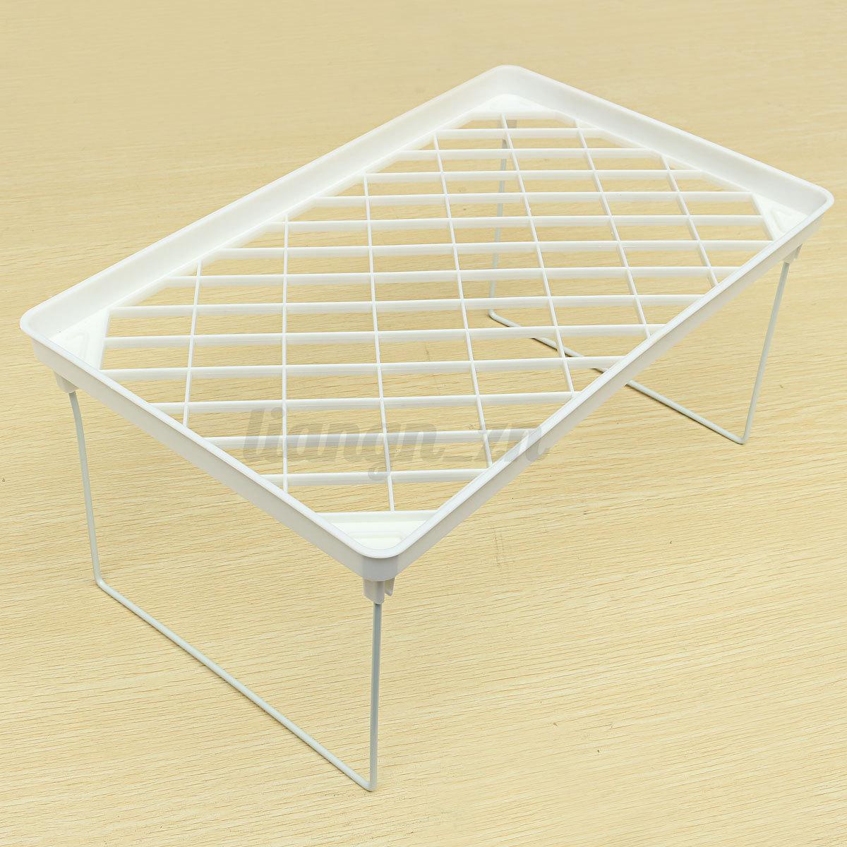 Plastique pliable etag re de rangement porte organisateur for Etagere plastique cuisine