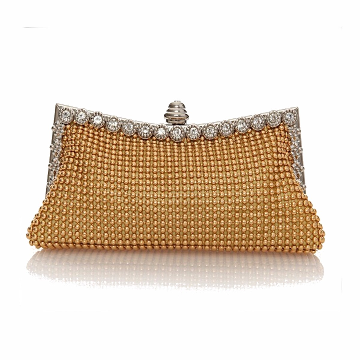 Uk Women Evening Prom Handbag Beaded Clutch Bag
