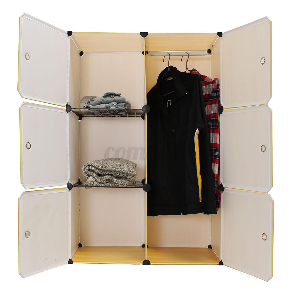 6 Cube Portable Clothes Closet Organizer Wardrobe Storage