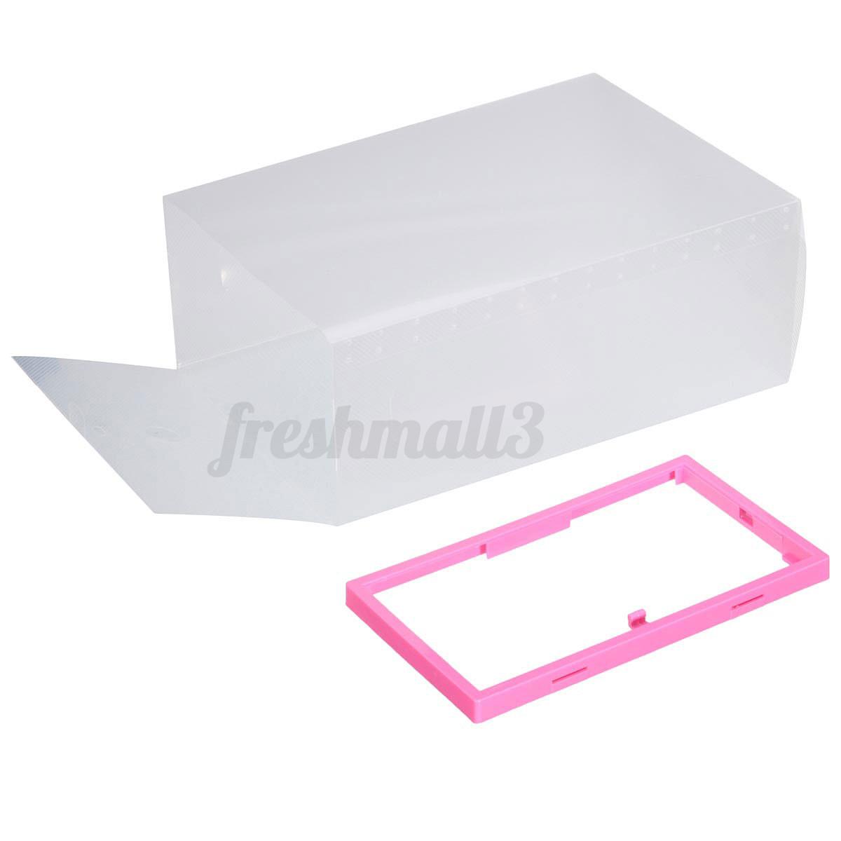 Impilabile scatole porta scarpe trasparente cassetto box - Scatole porta viti ...