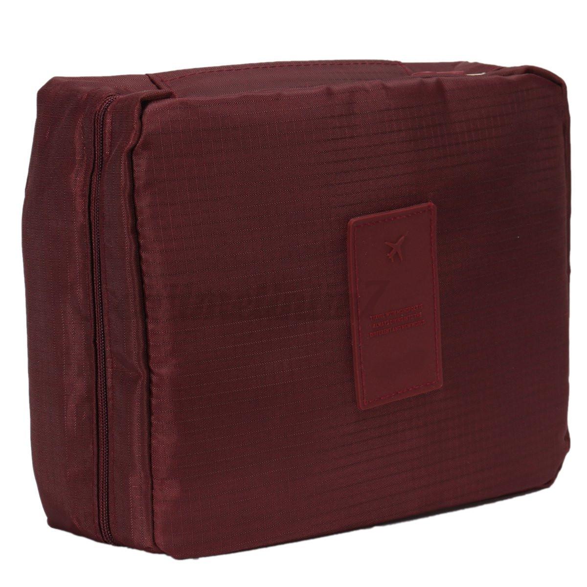 UK Girl Wash Bag Toiletry Cosmetic Travel Make Up Hanging Folding Case Organizer