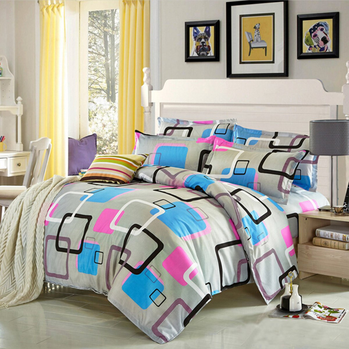 duvet cover with pillow case quilt cover bedding set all size single double king ebay. Black Bedroom Furniture Sets. Home Design Ideas