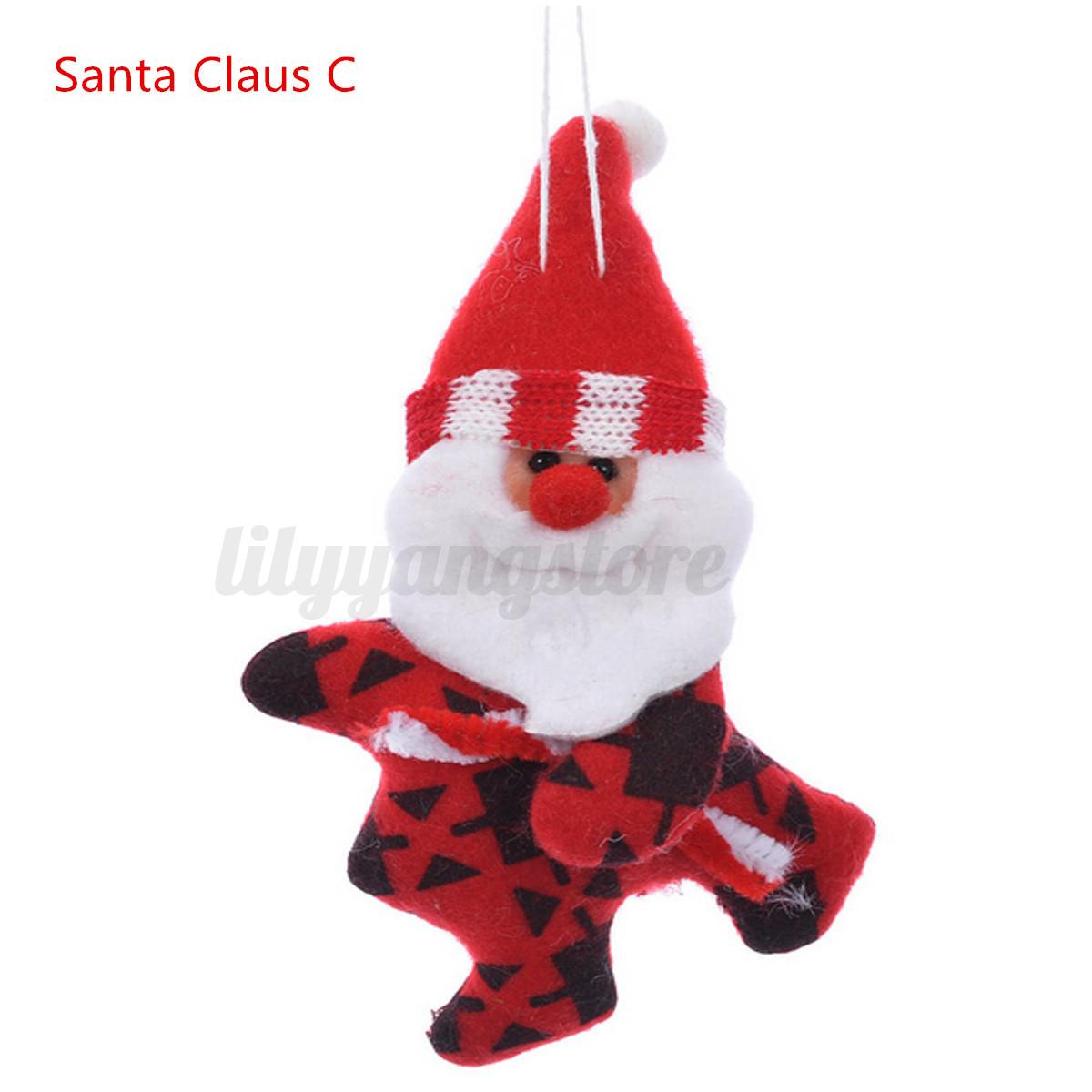 Santa Claus Toys : Christmas santa claus stuffed plush doll toy ornament xmas