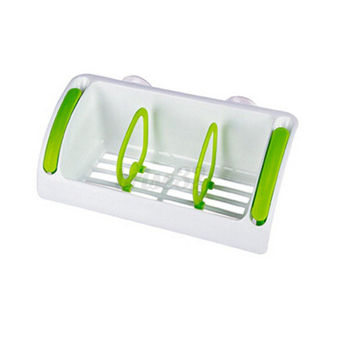 Strong Suction Cup Kitchen Brush Sponge Sink Draining Towel Rack Washing Holder
