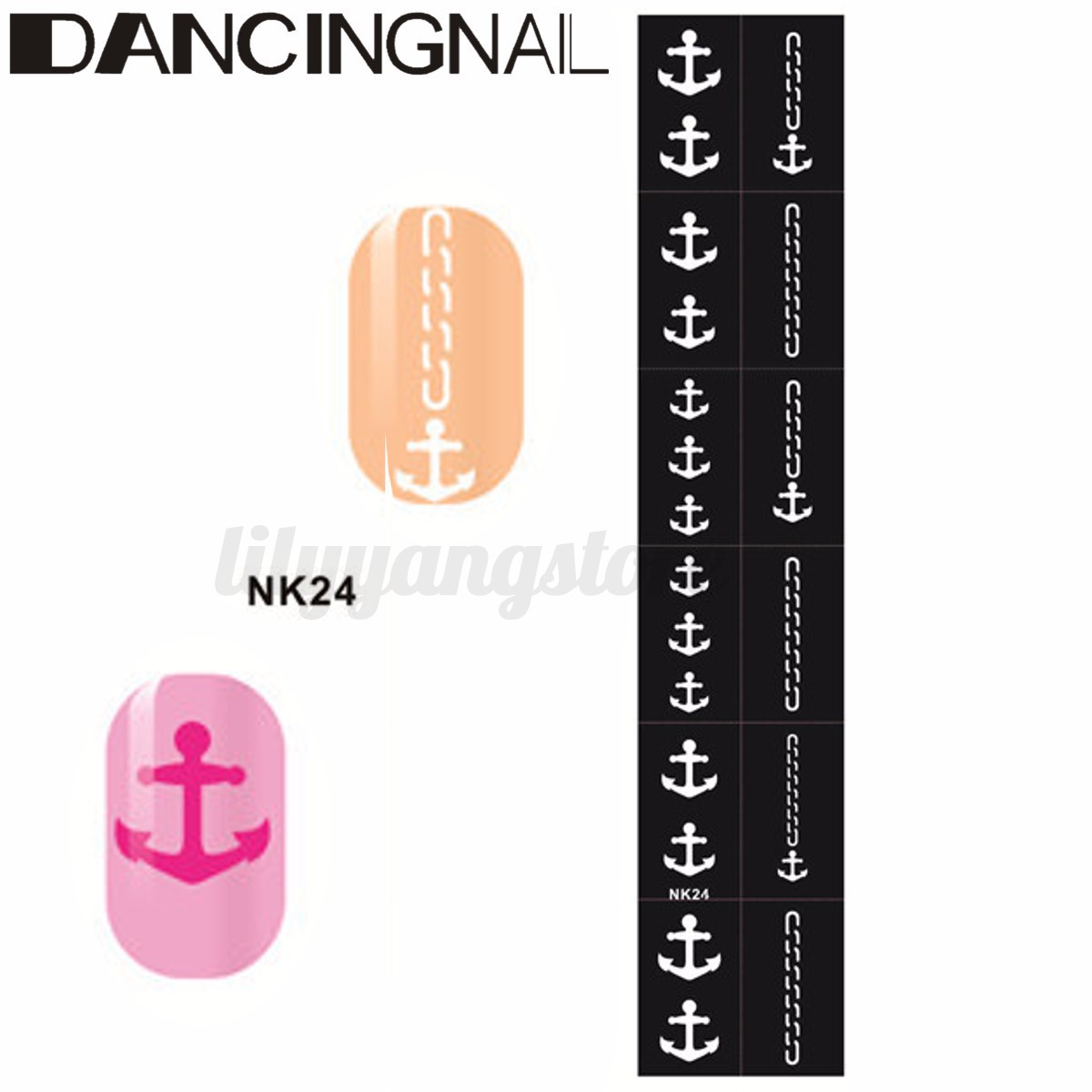 Easy Reusable Stamping Tool DIY Nail Art Template Stickers Stamp ...