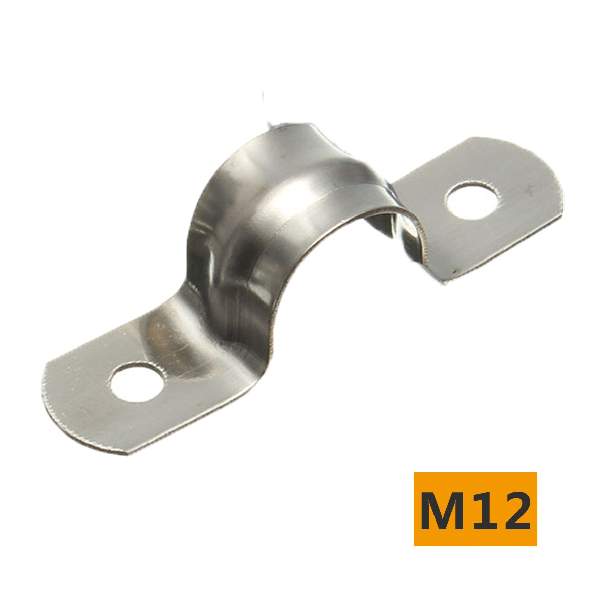 Stainless steel plumbing tube saddle pipe clip