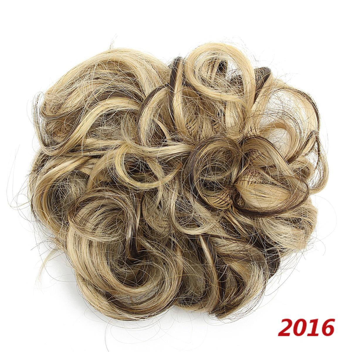 Femme-Chouchou-Cheveux-Perruque-Boucle-Extension-Chignon-Bandeau-Donut-Postiche miniature 10