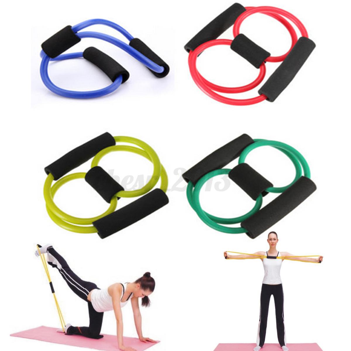 Latex Elastic Yoga Resistance Band Tube Pilates Pull Rope
