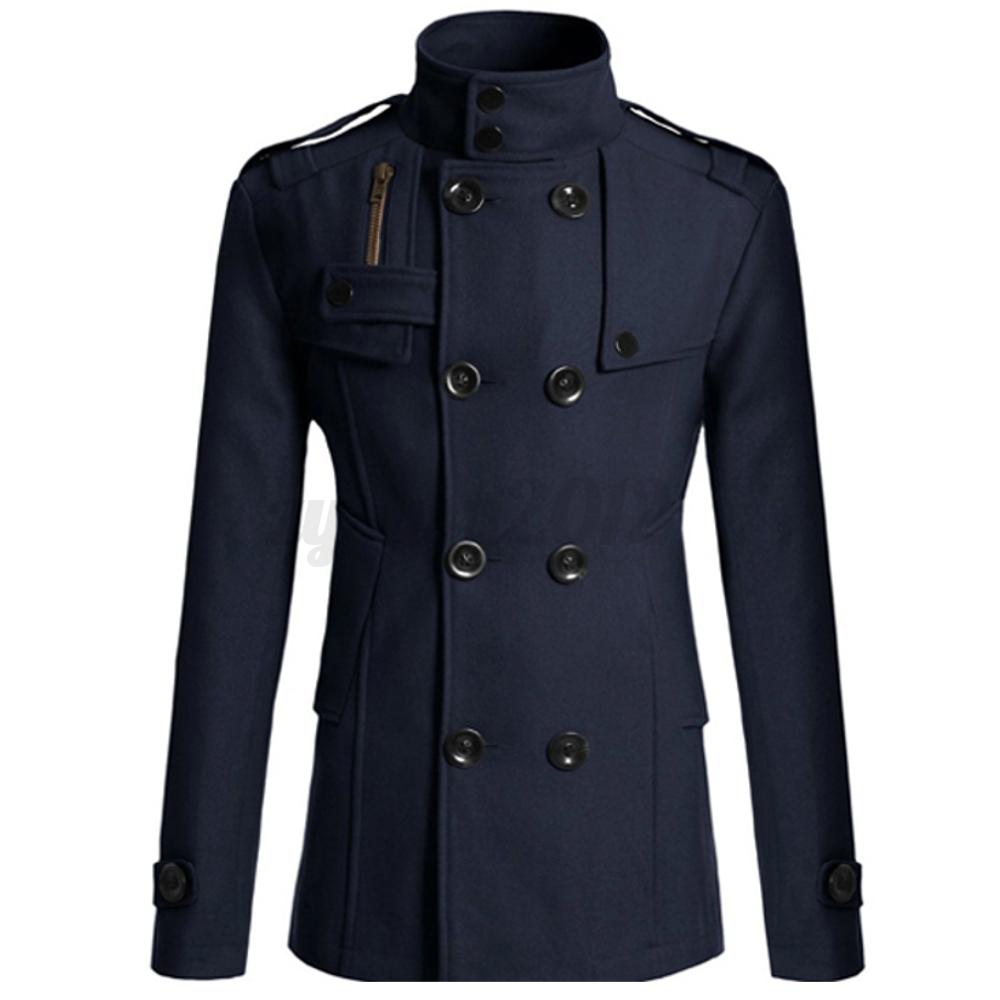 Men-Double-Breasted-Wool-Trench-Coat-Pea-Jacket-Overcoat-Winter-Warm-Long-Parka